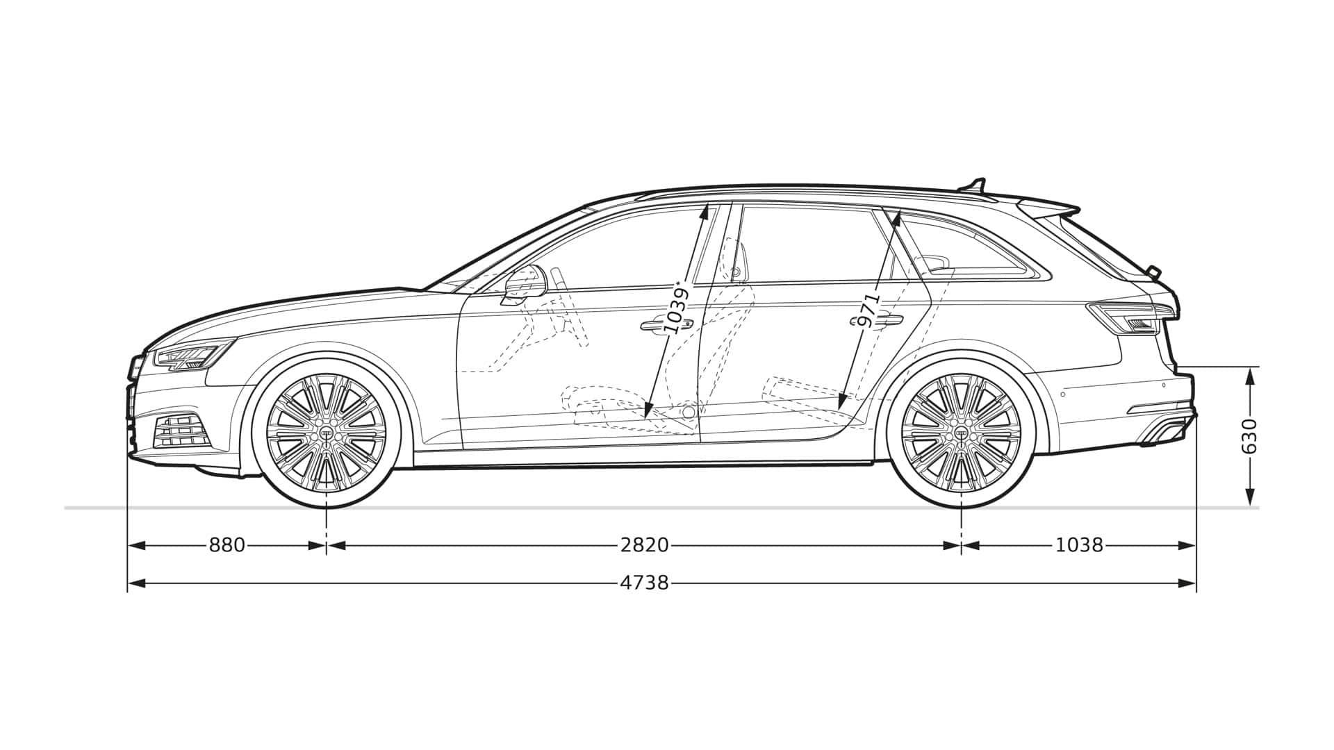 Audi A4 2019 Dimensions Audi Cars Review Release Raiacars Com