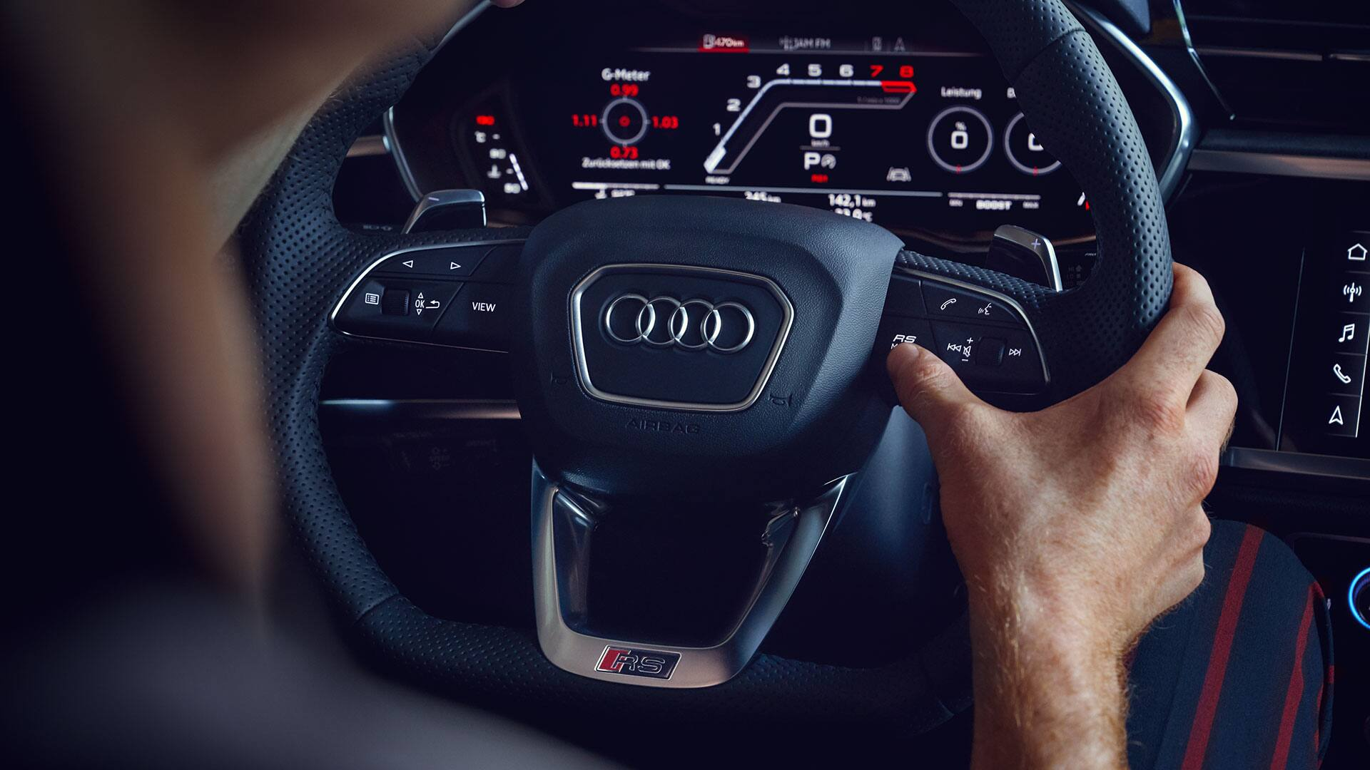 Audi virtual cockpit dans l'Audi RS Q3 Sportback