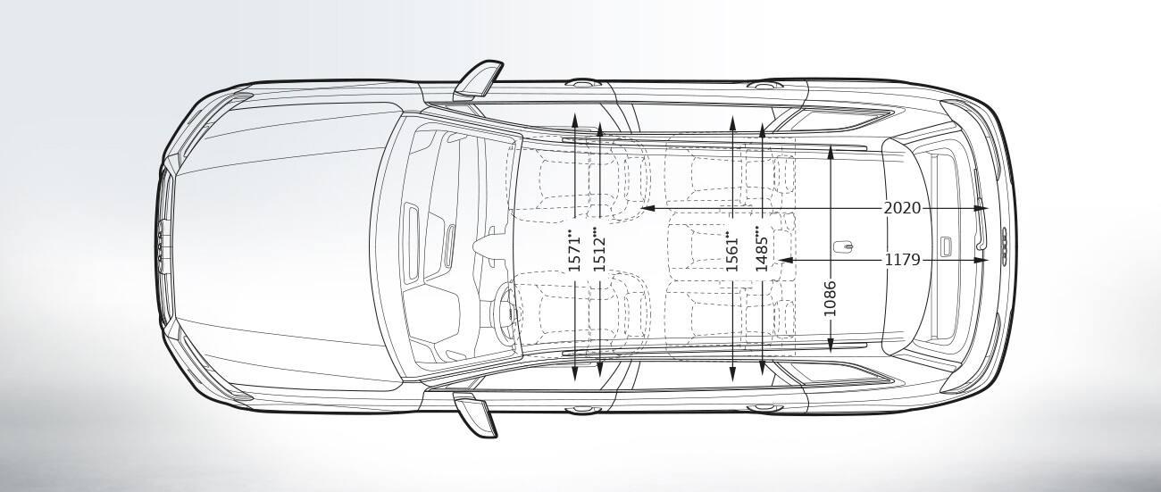 Vue Du Dessus 5 Si 232 Ges Gt Dimensions Gt Audi Q7 Gt Q7