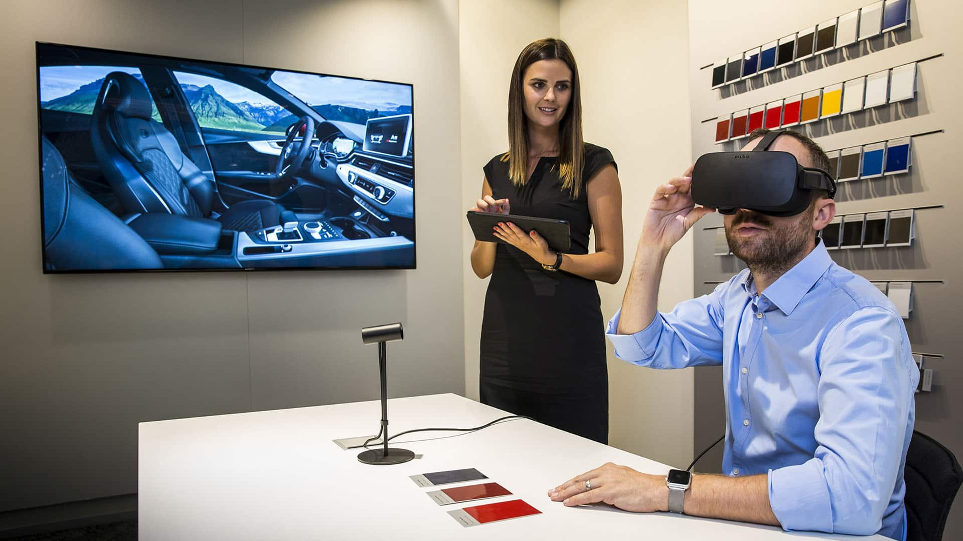 Audi Virtual Reality Experience in de showrooms