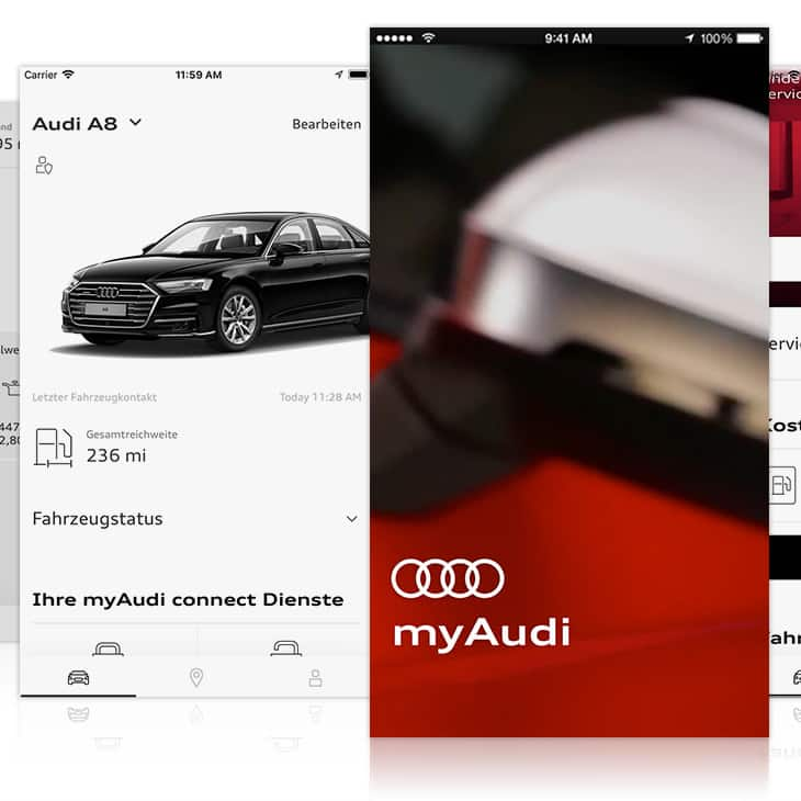 The myAudi app connects your Audi with your everyday life and brings more driver comfort into your life with its connective features.