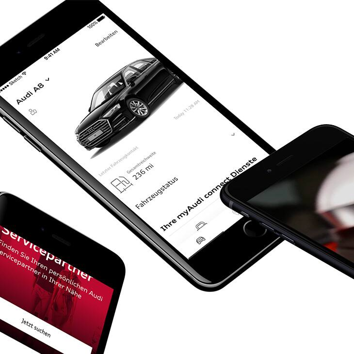 In order to be able to take full advantage of the Audi connect service, you must first register with myAudi. Go to myaudi.com or download the myAudi app.