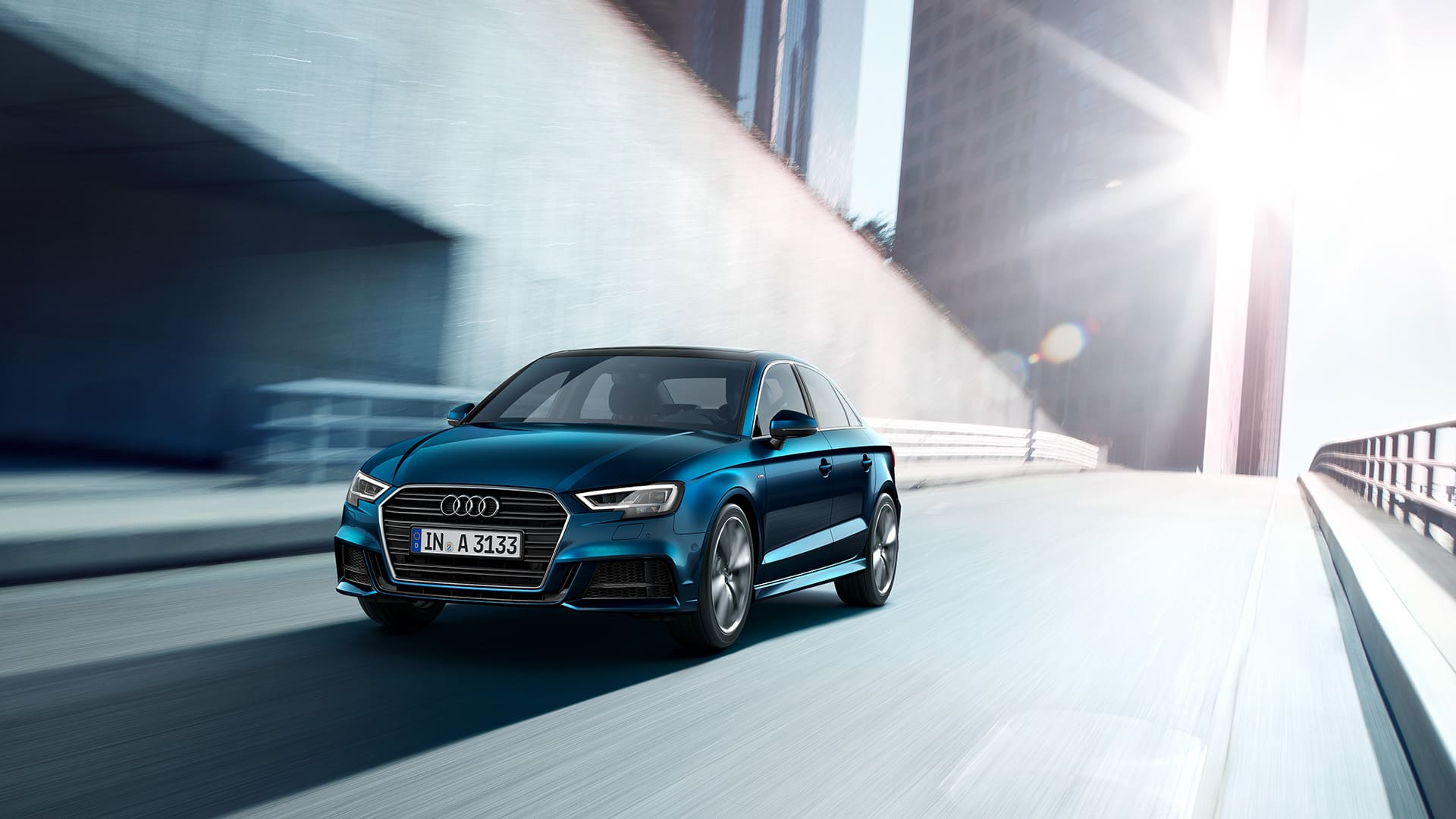 Audi A3 Berline 2019 in blauw